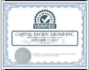 Dun & Bradstreet Verification Certificate