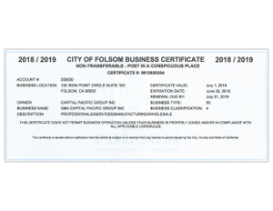 California Business License